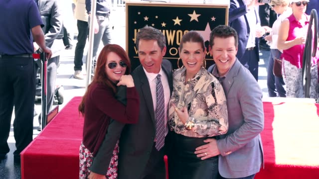Megan Mullally Eric McCormack Debra Messing and Sean Hayes at the Eric McCormack Honored with a Star on the Hollywood Walk of Fame on September 13...