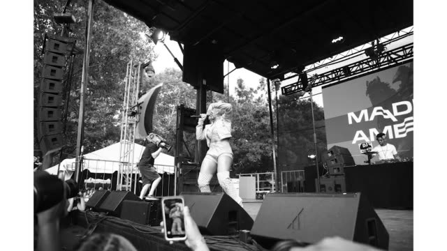 megan thee stallion at the made in america festival at benjamin franklin parkway on august 31 2019 in philadelphia pennsylvania - stallion stock videos & royalty-free footage