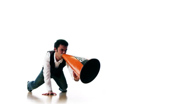 megaphone madness - public speaker stock videos & royalty-free footage