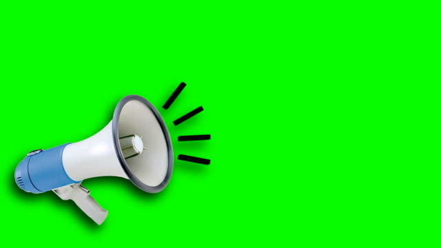 megaphone video animation green screen. attention,news,opening. - announcement message stock videos & royalty-free footage