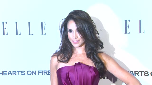 meghan markle at elle's 2nd annual 'women in television' celebration 1/24/2013 in west hollywood ca - west hollywood california stock videos & royalty-free footage