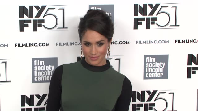 meghan markle at gala tribute to cate blanchett arrivals the 51st new york film festival at alice tully hall on october 02 2013 in new york new york - meghan duchess of sussex stock videos & royalty-free footage