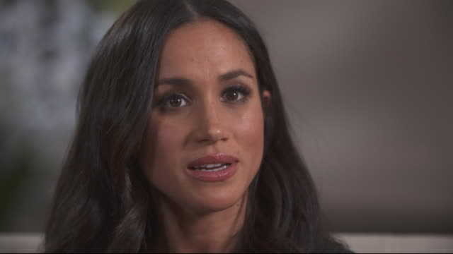 "meghan markle saying she found it ""disheartening"" that there was so much focus on her ethnicity once she started her relationship with prince harry - mixed race person stock videos & royalty-free footage"