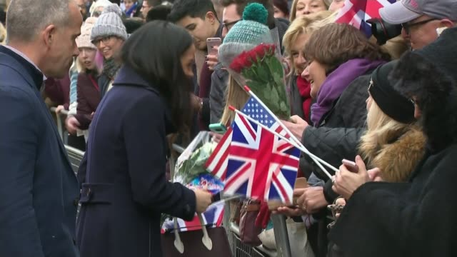 Meghan Markle to spend Christmas with the Royal Family at Sandringham T011217014 / 1122017 DAY Various of Meghan Markel meeting crowds during...