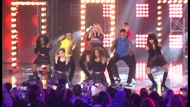 performance meghan trainor 2014 nickelodeon halo awards at basketball city pier 36 south street on november 15 2014 in new york city - meghan trainor stock videos & royalty-free footage