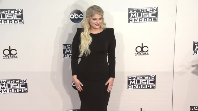 meghan trainor at 2015 american music awards arrivals in los angeles ca - meghan trainor stock videos & royalty-free footage