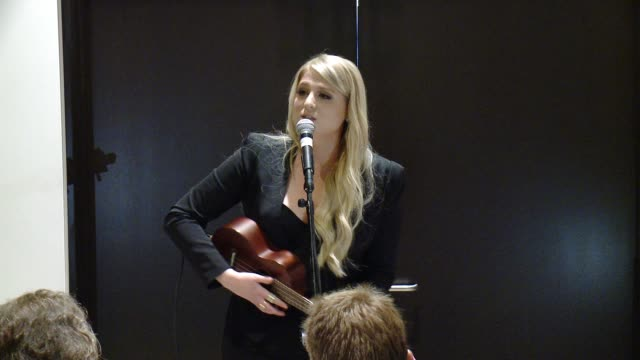 performance meghan trainor at an intimate evening at the atom factory benefitting the charlotte gwenyth gray foundation in los angeles ca - meghan trainor stock videos & royalty-free footage