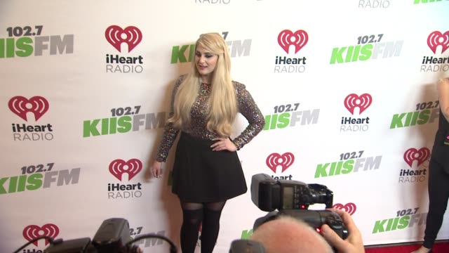 meghan trainor at kiis fm's jingle ball 2014 at staples center on december 05 2014 in los angeles california - meghan trainor stock videos & royalty-free footage
