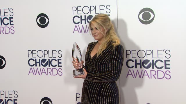 meghan trainor at people's choice awards 2016 at nokia plaza la live on january 06 2016 in los angeles california - people's choice awards stock videos & royalty-free footage