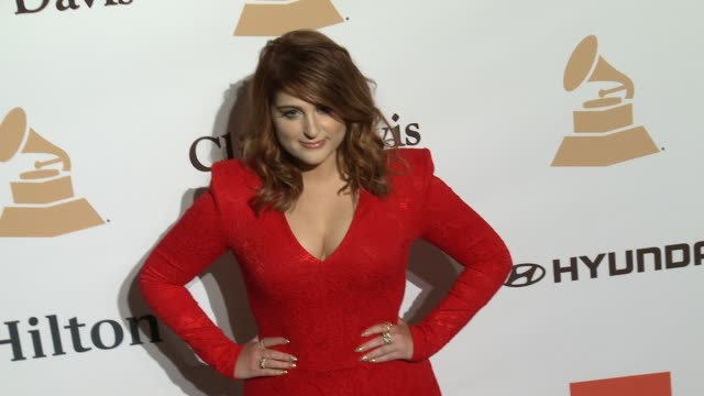 meghan trainor at the 2016 pregrammy gala and salute to industry icons honoring irving azoff at the beverly hilton hotel on february 14 2016 in... - meghan trainor stock videos & royalty-free footage