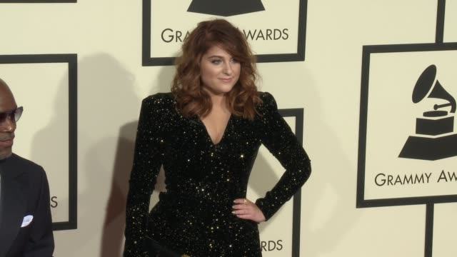 meghan trainor at the 58th annual grammy awards® arrivals at staples center on february 15 2016 in los angeles california - meghan trainor stock videos & royalty-free footage