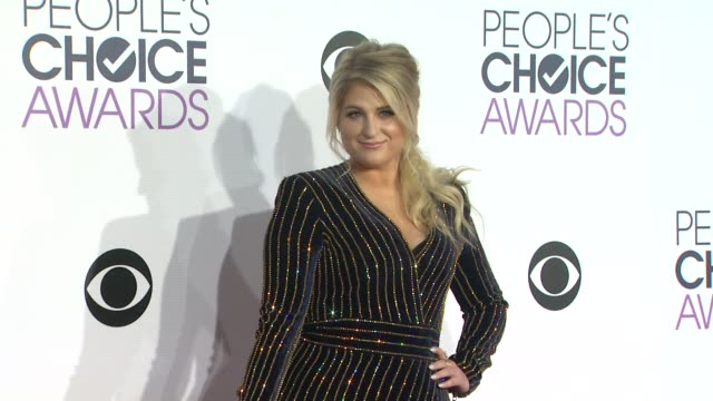 meghan trainor at the people's choice awards 2016 at nokia plaza la live on january 6 2016 in los angeles california - meghan trainor stock videos & royalty-free footage