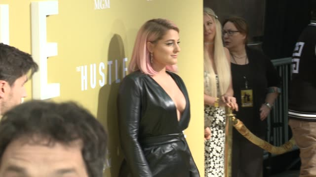 meghan trainor at the the hustle world premiere at arclight cinerama dome on may 08 2019 in hollywood california - meghan trainor stock videos & royalty-free footage