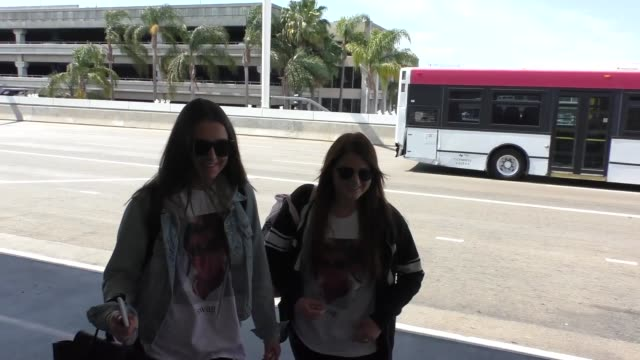meghan trainor shows off her swag shirt while departing at lax airport in los angeles at celebrity sightings in los angeles on may 25 2016 in los... - meghan trainor stock videos & royalty-free footage