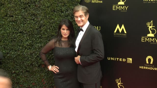 Mehmet Oz and Lisa Oz at the 2018 Daytime Emmy Awards at Pasadena Civic Auditorium on April 29 2018 in Pasadena California
