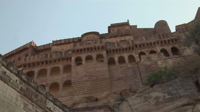 vídeos y material grabado en eventos de stock de ms, la, mehrangarh fort, jodhpur, rajasthan, india - fortaleza estructura de edificio