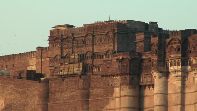 ms, mehrangarh fort, jodhpur, rajasthan, india - fortress stock videos and b-roll footage