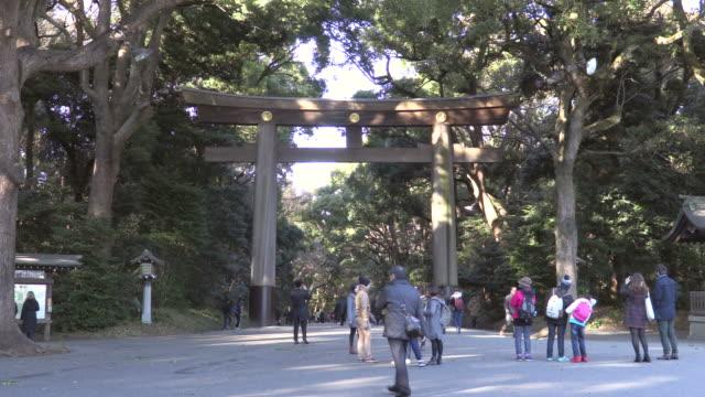 meiji jingu - shinto shrine stock videos & royalty-free footage