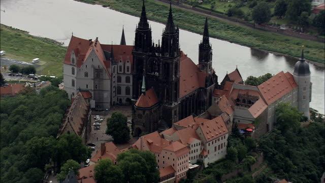 Meissen  - Aerial View - Saxony,  helicopter filming,  aerial video,  cineflex,  establishing shot,  Germany