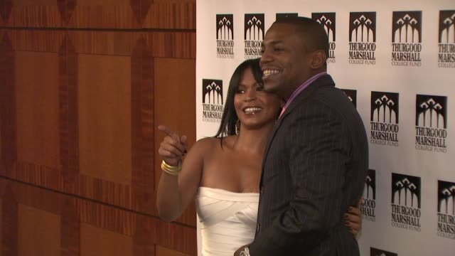 mekhi phifer and nia long at the thurgood marshall college fund's 21st anniversary award gala at new york ny - nia long stock videos and b-roll footage