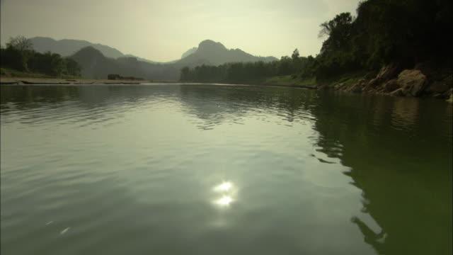 WS POV Mekong River at dusk, Laos