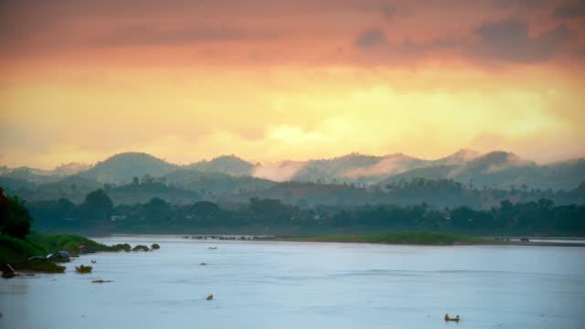 mekong river chiang khan, udon thani - mekong delta stock videos & royalty-free footage