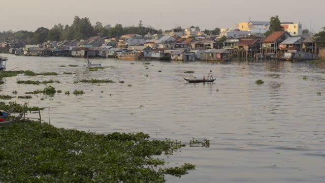 mekong river in chau doc, vietnam - mekong delta stock videos & royalty-free footage