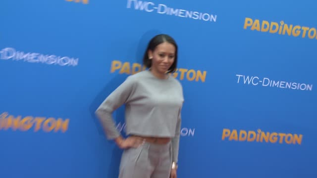 mel b and stephen belafonte at 'paddington' los angeles premiere at arclight cinemas cinerama dome on january 10 2015 in hollywood california - cinerama dome hollywood stock videos and b-roll footage