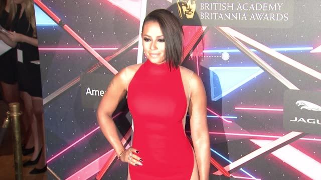 mel b at 2015 jaguar land rover british academy britannia awards presented by american airlines in los angeles ca - land rover stock videos and b-roll footage