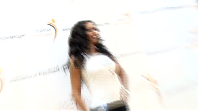mel b launches national fitness week: photocall and interview; england: london: tottenham court road: int melanie brown entering room and posing in... - tottenham court road stock videos & royalty-free footage