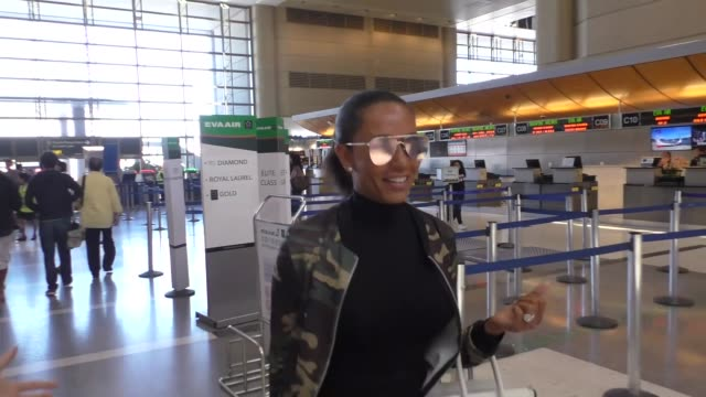 INTERVIEW Mel B talks about Spice Girls while departing at LAX Airport in Los Angeles in Celebrity Sightings in Los Angeles
