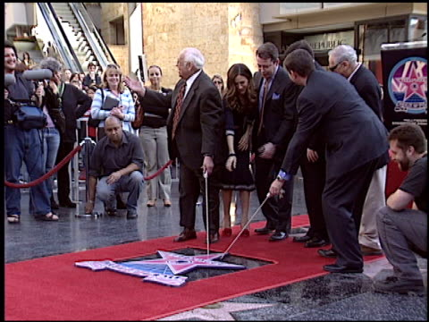 mel brooks at the dediction of matthew broderick and nathan lane's walk of fame star at the hollywood walk of fame in hollywood, california on... - matthew broderick stock videos & royalty-free footage