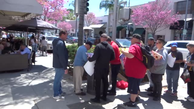 mel brooks signs autographs for his fans in beverly hills at celebrity sightings in los angeles on april 12, 2019 in los angeles, california. - autogramm stock-videos und b-roll-filmmaterial