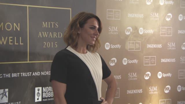 mel c at music industry trust awards at grosvenor house, on october 2, 2015 in london, england. - spice girls stock-videos und b-roll-filmmaterial