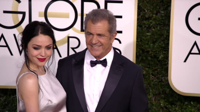 Mel Gibson and Rosalind Ross at 74th Annual Golden Globe Awards Arrivals at 74th Annual Golden Globe Awards Arrivals at The Beverly Hilton Hotel on...