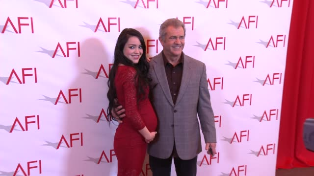 mel gibson and rosalind ross at four seasons hotel los angeles at beverly hills on january 06 2017 in los angeles california - mel gibson stock videos and b-roll footage