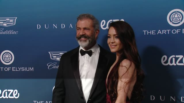 mel gibson and rosalind ross at the art of elysium presents michael muller's heaven on january 05 2019 in los angeles california - mel gibson stock videos and b-roll footage