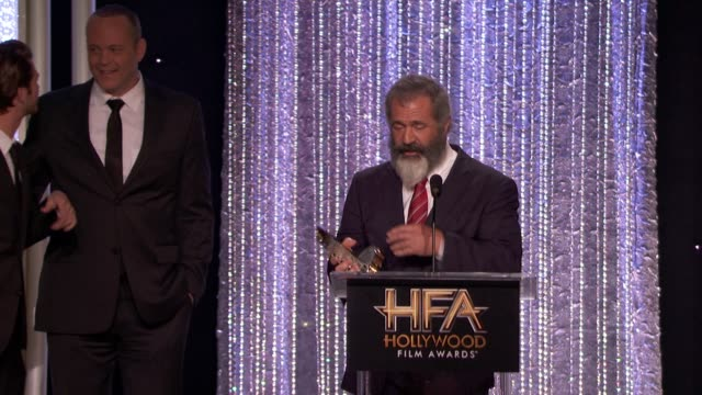 speech mel gibson at 20th annual hollywood film awards in los angeles ca - mel gibson stock videos and b-roll footage