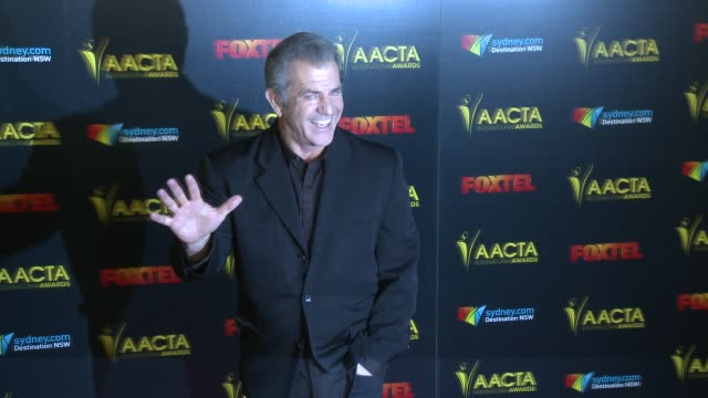 mel gibson at 6th aacta international awards in los angeles ca - mel gibson stock videos and b-roll footage