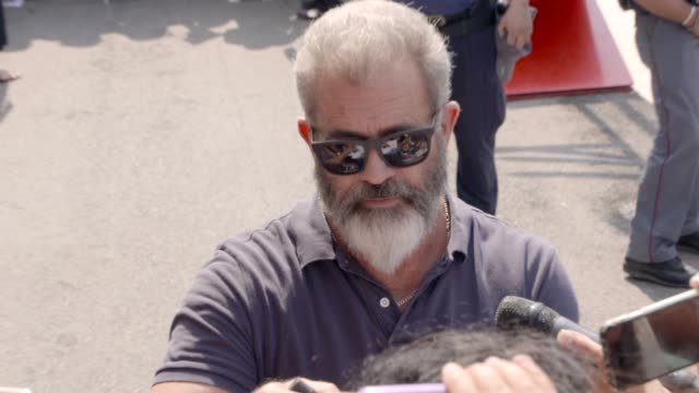 mel gibson at celebrity sightings in venice on september 04 2016 in venice italy - mel gibson stock videos and b-roll footage