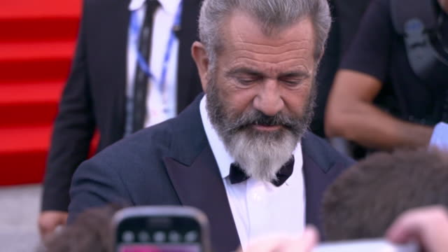 mel gibson at 'hacksaw ridge' red carpet - 73rd venice film festival at palazzo del cinema on september 04, 2016 in venice, italy. - red carpet event stock videos & royalty-free footage