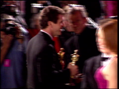 mel gibson at the 1996 academy awards vanity fair party at morton's in west hollywood california on march 25 1996 - mel gibson stock videos and b-roll footage