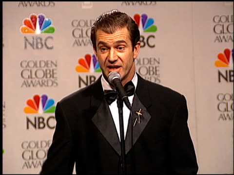 Mel Gibson at the 1996 Golden Globe Awards at the Beverly Hilton in Beverly Hills California on January 21 1996
