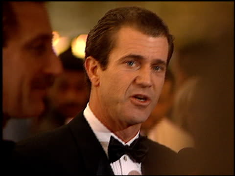 mel gibson at the 1996 golden globe awards at the beverly hilton in beverly hills california on january 21 1996 - mel gibson stock videos and b-roll footage