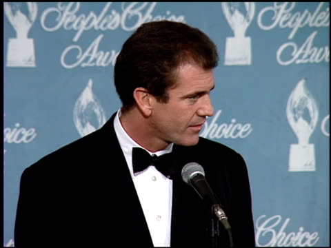 mel gibson at the 1997 people's choice awards at santa monica airport in santa monica california on january 12 1997 - mel gibson stock videos and b-roll footage