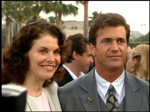 mel gibson at the 'braveheart' premiere at paramount in los angeles california on may 19 1995 - mel gibson stock videos and b-roll footage
