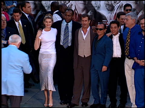 mel gibson at the dedication of danny glove's footprints at grauman's chinese theatre in hollywood california on july 7 1998 - mel gibson stock videos and b-roll footage