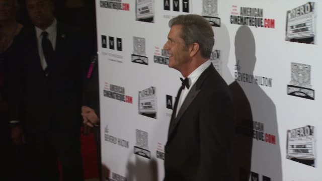 mel gibson at the the 25th annual american cinematheque award honoring robert downey jr at beverly hills ca - american cinematheque stock videos & royalty-free footage