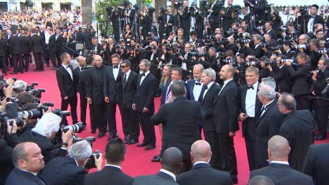 mel gibson jason statham sylvester stallone wesley snipes kelsey grammer dolph lundgren harrison ford antonio banderas at 'the expendables 3' red... - mel gibson stock videos and b-roll footage