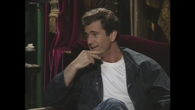 mel gibson on his life being threatened - mel gibson stock videos and b-roll footage